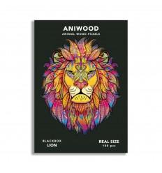 Aniwood - Puzzle de madera León de 100 piezas