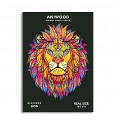 Aniwood - Puzzle de madera León de 150 piezas