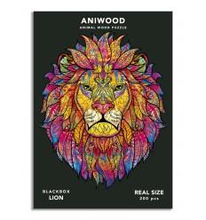 Aniwood - Puzzle de madera León de 200 piezas