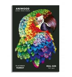Aniwood - Puzzle de madera Loro de 121 piezas