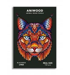 Aniwood - Puzzle de madera Lince de 102 piezas