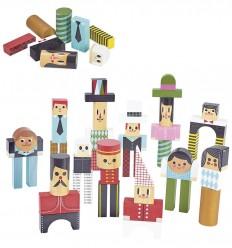 Vilac - Personajes en 50 bloques, juego de construcción