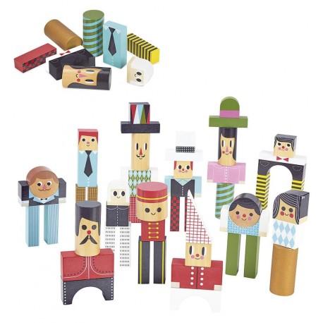 Vilac - Personajes en bloques, juego de construcción