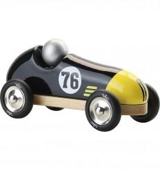 Vilac - Coche deportivo de madera, negro y amarillo