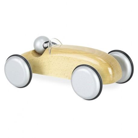 Vilac - Coche bólido de carreras natural, juguete de madera