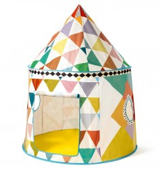 Djeco - Casa de tela cabaña multicolor