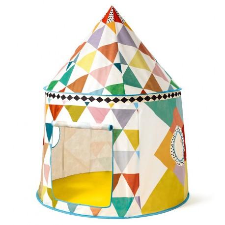 Djeco - Cabana de tecido multicolorido