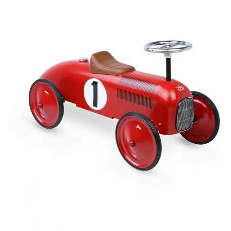 Vilac - Coche correpasillos vintage rojo, juguete clásico
