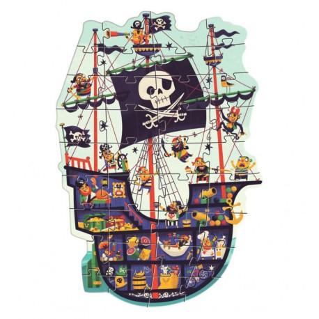 Djeco - El Barco Pirata, puzzle gigante 36 pz