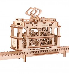 UGears - Tranvía sobre raíles, kit de madera 3D