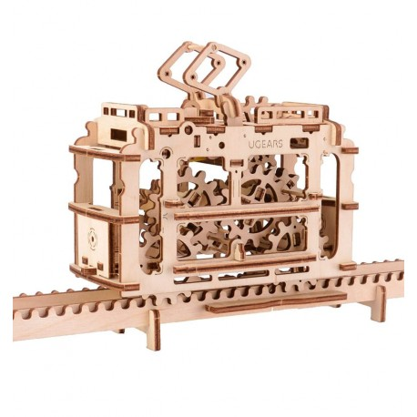 UGears - Tram on rails, 3D mechanical model