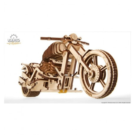 UGears - Moto mecánica VM-02, kit de madera 3D