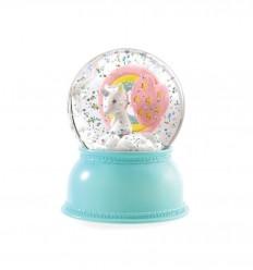 Djeco - Lámpara de nieve Unicornio