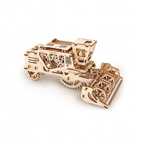 UGears - Cosechadora - trilladora mecánica, kit de madera 3D
