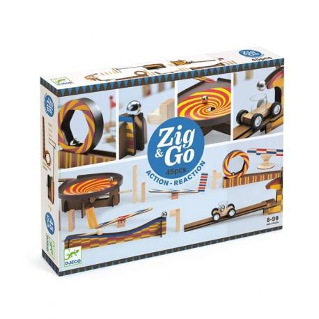 Djeco - Zig & Go 25 piezas, circuito creativo
