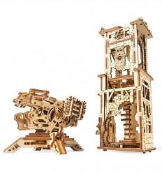 UGears - Balista y Torre, kit de madera 3D