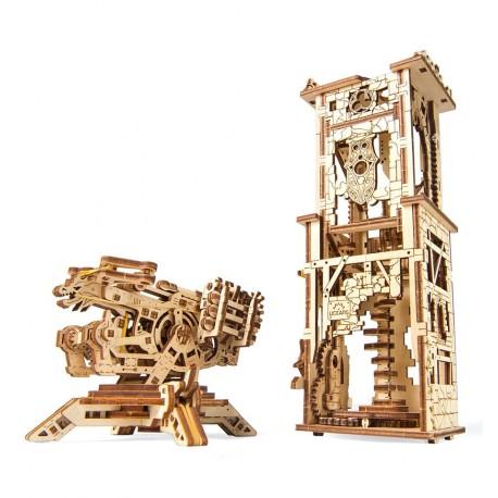 UGears - ArchBallista Tower, 3D mechanical model