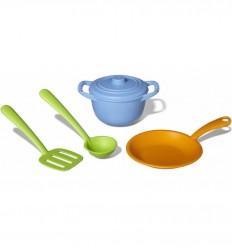 GreenToys - Accesorios chef para cocinita, juguete ecológico