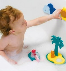 Quut - Puzzle para la bañera en 3D Isla del tesoro