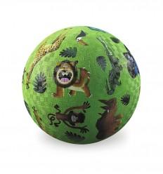 Crocodile Creek - Wild Animals rubber ball - 18cm