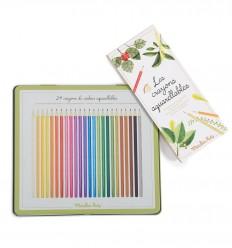 Moulin Roty - Caja de 24 lápices acuarelables - El jardín