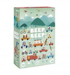 Londji - Beep Beep!, Puzzle observación de 48 piezas