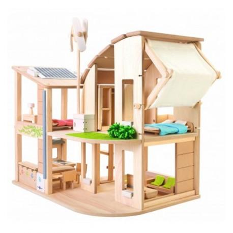 Plantoys - Casa ecológica con muebles