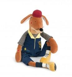 Moulin Roty - Elvis el perro Broc' n Rolls, muñeco de peluche