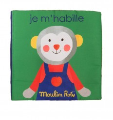 Moulin Roty - I'm getting dressed - Popipop, Fabric book