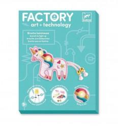 Djeco - Factory - Broche que se ilumina - Dulce unicornio