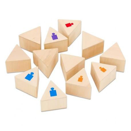 GOKI - Juego de memoria de pesos, 12 piezas de madera