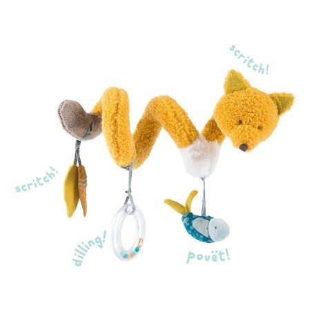 Moulin Roty - Chaussette the fox activity spiral - Le Voyage d'Olga