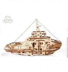 UGears - Barco remolcador, kit de madera 3D