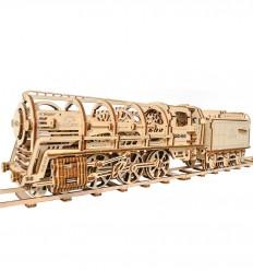 UGears - UGears - 460 Steam Locomotive, kit de madera 3D