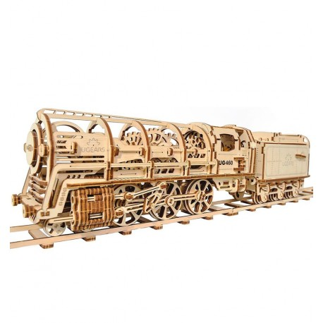 UGears - 460 Steam Locomotive, 3D mechanical model