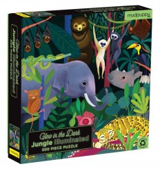 Tiger Tribe - Jungle, 500 pz Glow in the dark Puzzle