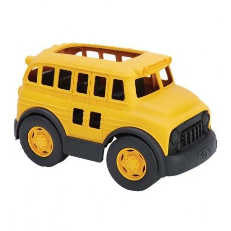 Grentoys - Autocar de ruta escolar, juguete ecológico
