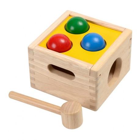 Plantoys - Encajable golpea y cae, juguete de madera