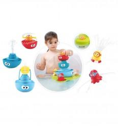 Yookidoo - fuente apilable para la bañera, juguete de baño