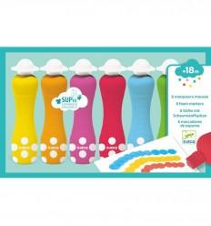 Djeco - 6 marcadores de espuma