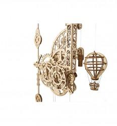 UGears - Relógio Aero. Relógio de parede com pêndulo, kit de madeira 3D