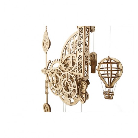 UGears - Reloj Aero. Reloj de pared con péndulo, kit de madera 3D