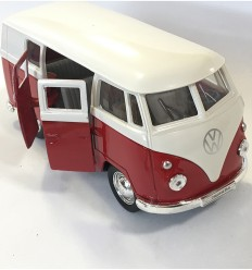 Welly - Volkswagen T1 -retro- (1963), furgão de brinquedo - Cucutoys