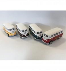 Kinsmart - Volkswagen T1 -micro- (1962), furgão de brinquedo - Cucutoys