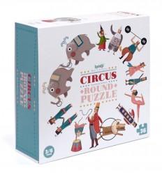 Londji - Circus Round Puzzle circular de 36 piezas