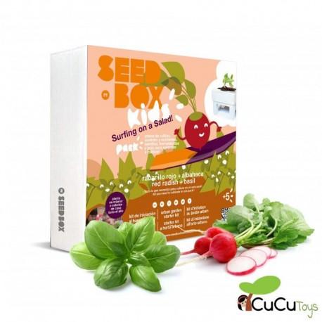 SeedBox - kit de cultivo Albahaca Rabanitos