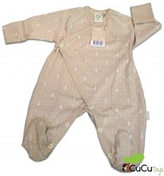 Wooly Organic - Pijama ecológico para bebés - Color Marrón