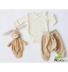 Wooly Organic - Conjunto de ropita para bebés - Color Marrón