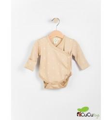 Wooly Organic - Bodie ecológico para bebés - Color Marrón