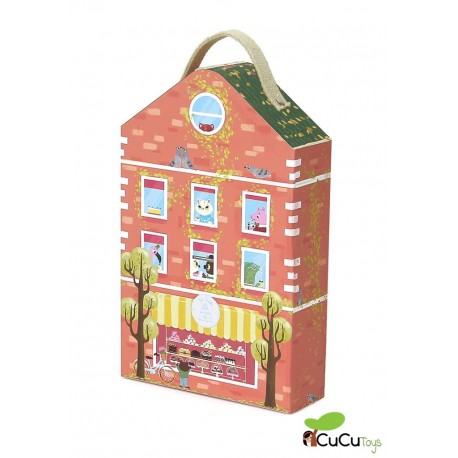 Krooom - Pastelería portátil Bunny, juguete de cartón reciclado